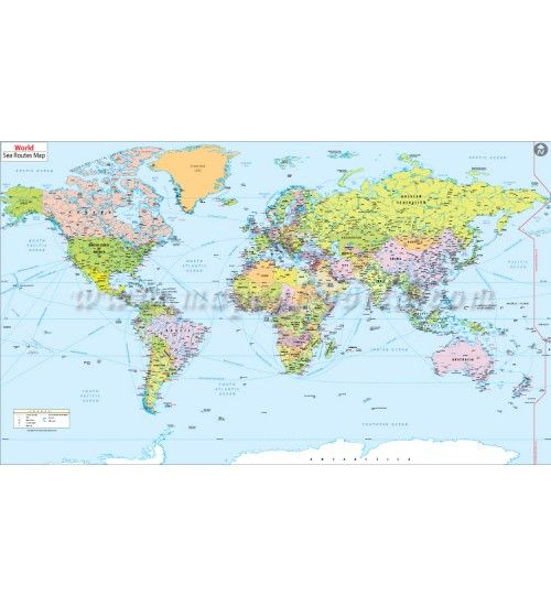 Buy world port and shipping routes map digital map buy world and usa maps online gumiabroncs Choice Image