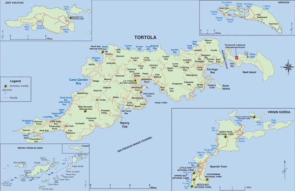 large detailed map of tortola british virgin islands tortola british virgin islands large detailed map