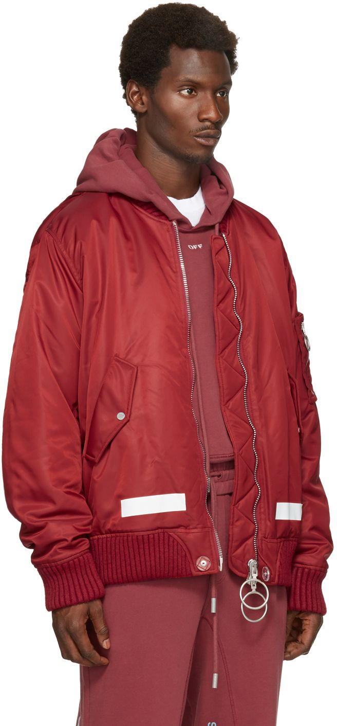 Off White Red Arrows Bomber Jacket Off White Clothing Bomber Jacket Off White [ 1412 x 656 Pixel ]