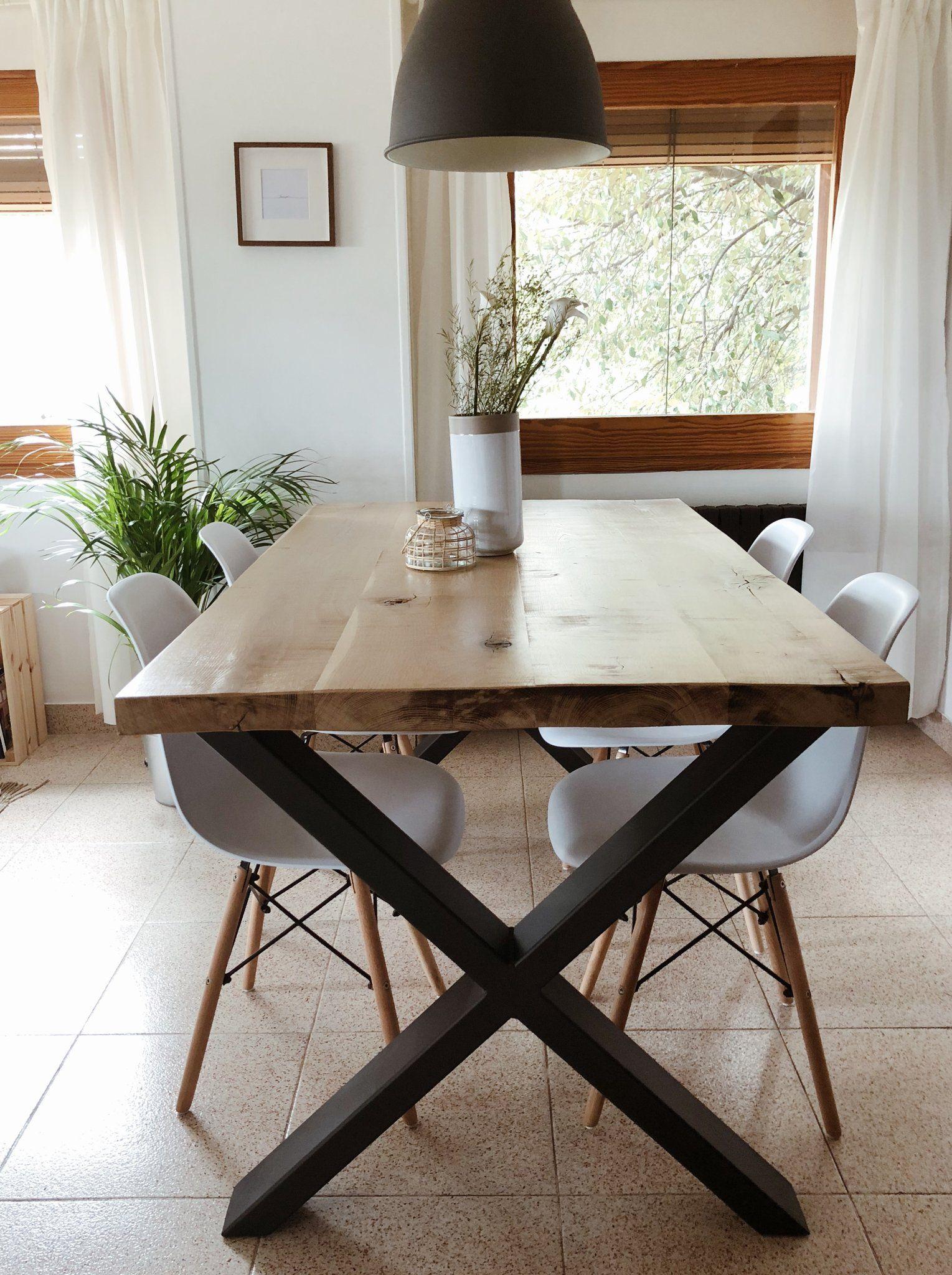 Mesa comedor Akanni (Roble - tablones) | Mesas de comedor ...