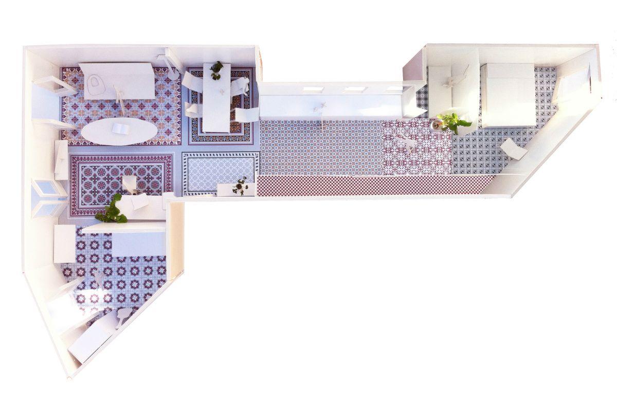Maqueta Reforma Piso Barcelona Naarch Arquitectura Arch  ~ Pisos Para Reformar En Barcelona