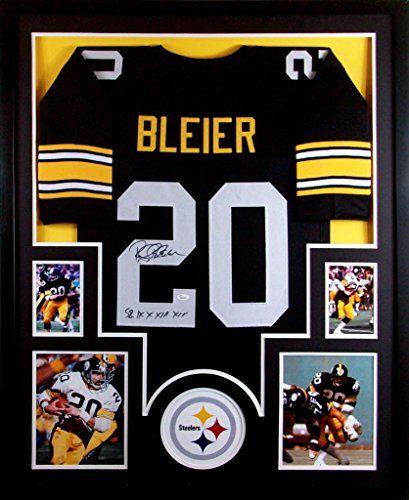 Rocky Bleier Framed Jersey Signed JSA COA Autographed Pittsburgh Steelers Mister Mancave http://www.amazon.com/dp/B00MQX1UTO/ref=cm_sw_r_pi_dp_kOKswb0SYJVC2