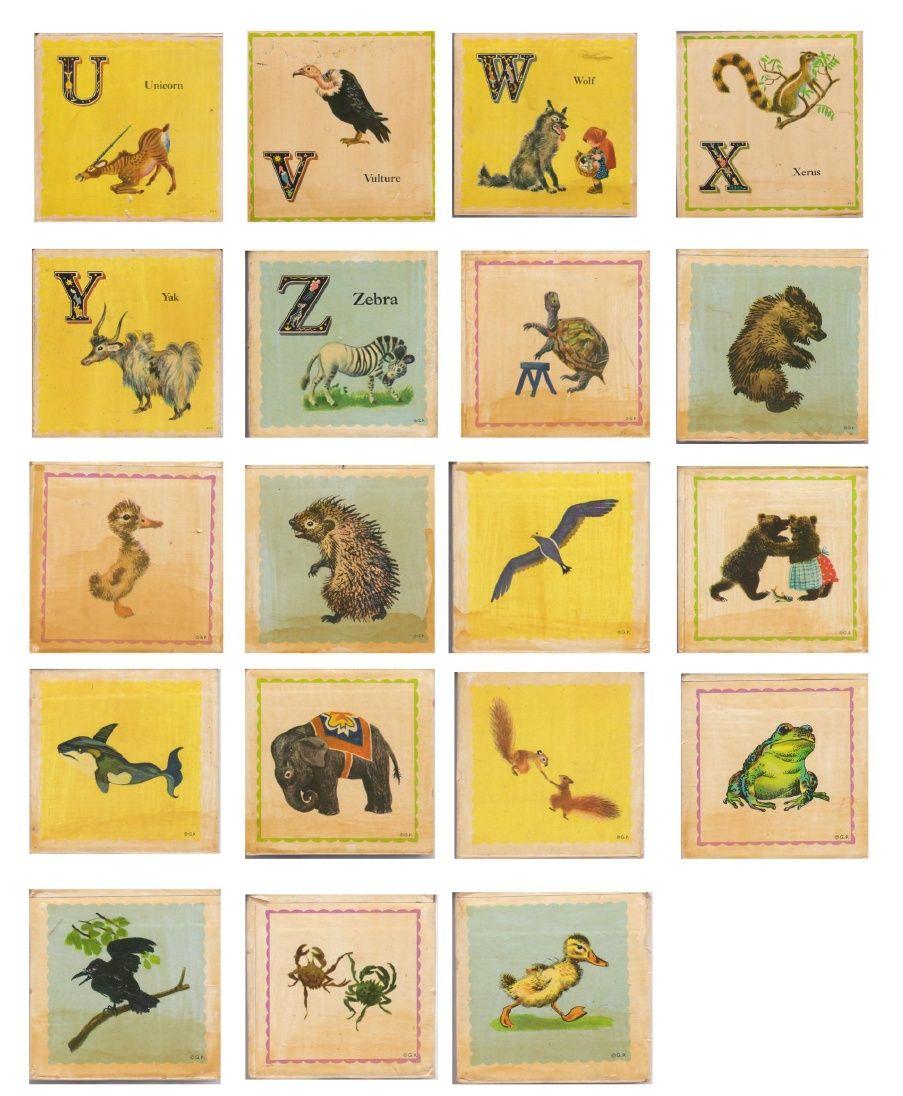 ROOKNO17 Vintage Nursery Alphabet Blocks U-Z | Scribd