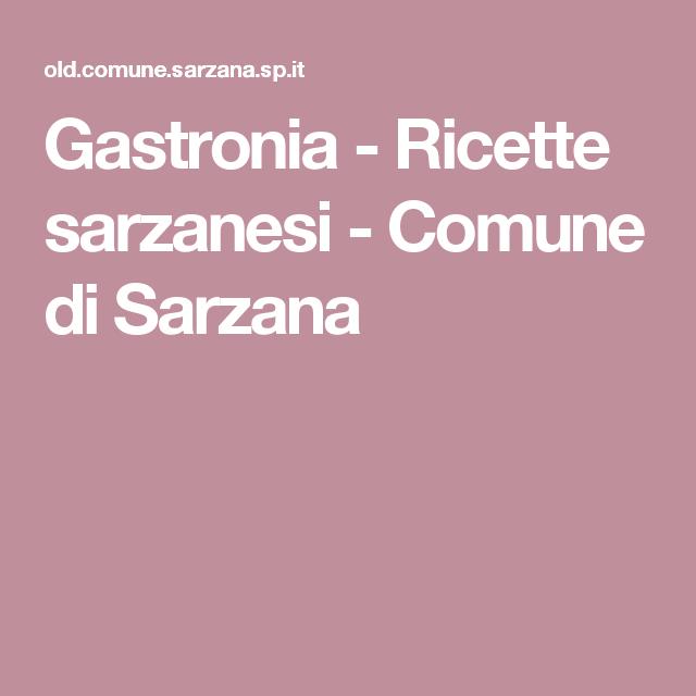 Gastronia - Ricette sarzanesi - Comune di Sarzana