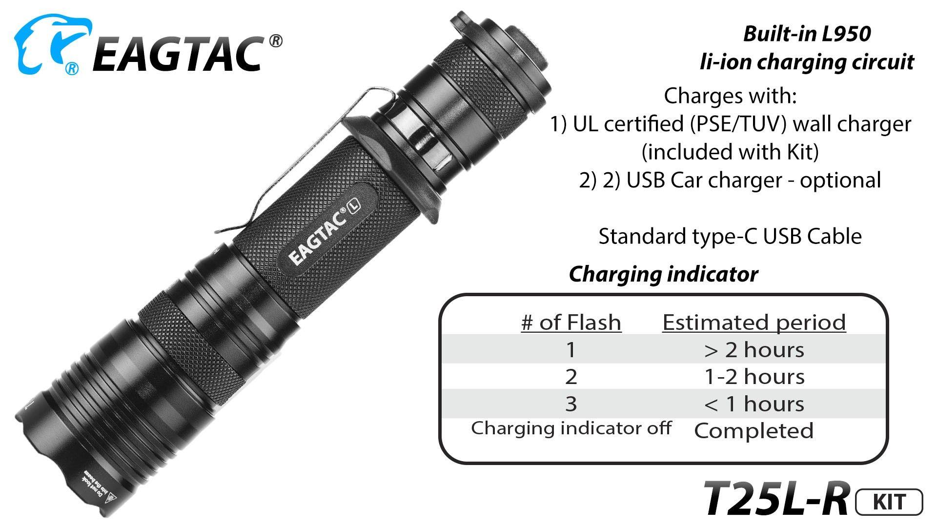 Eagletac T25lr 1870 Lumen 1 X 18650 Cree Xhp 35 Hi Led Flashlight Torch Circuit