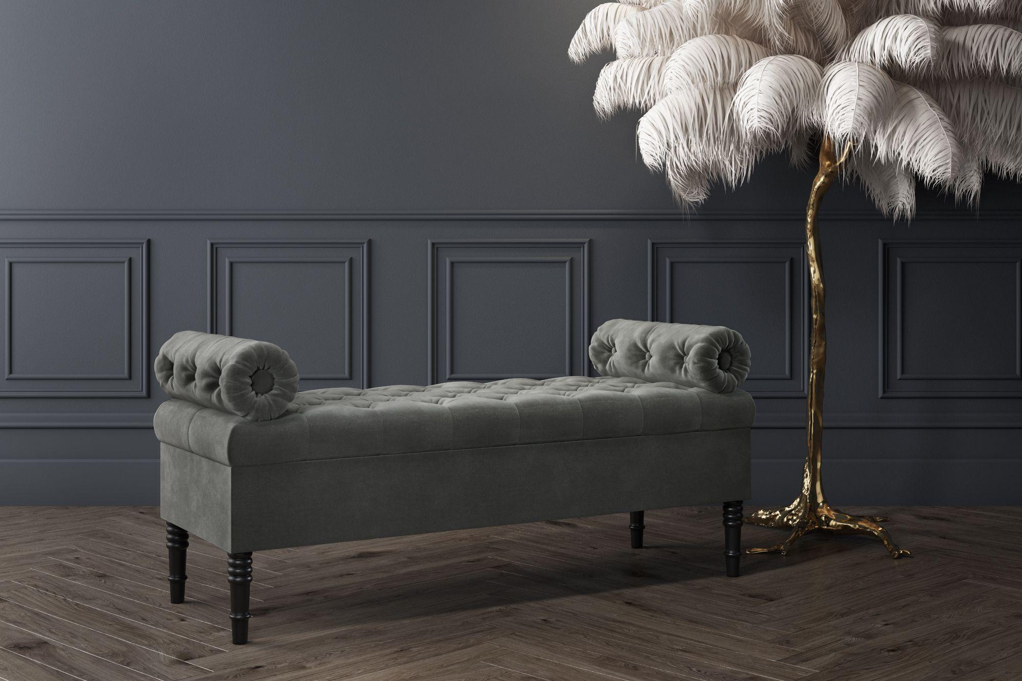 Safina Grey Velvet Ottoman Storage Bench Storage Ottoman Bench Pink Bedroom Furniture End Of Bed Ottoman