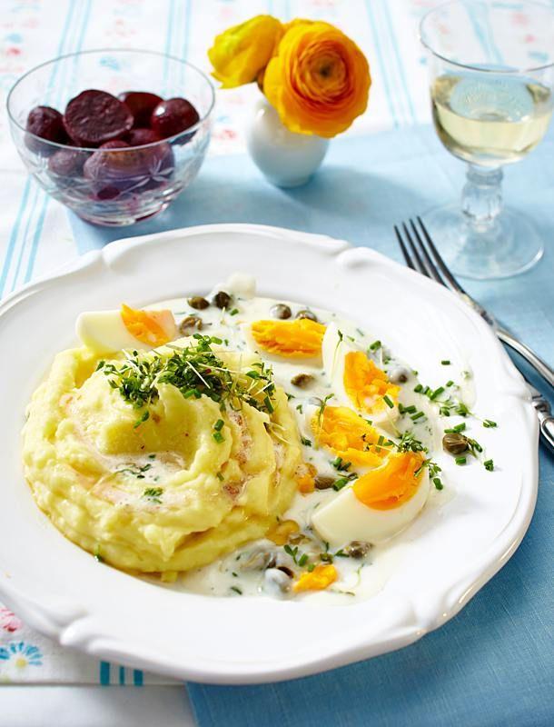 Königsberger Eier mit Kartoffelpüree Rezept | LECKER