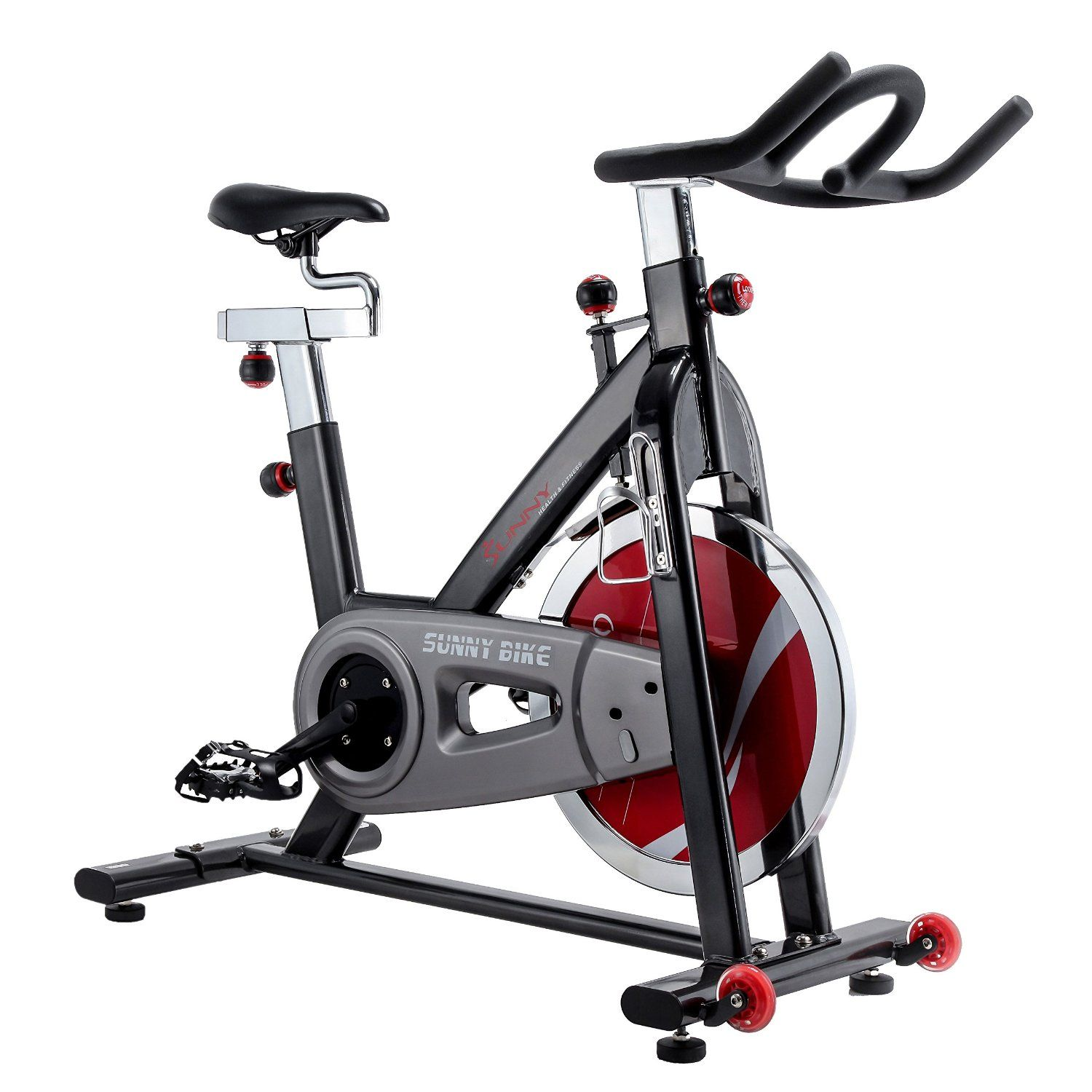 This Sunny Health & Fitness SF-B1002 Belt Drive Indoor Cycling ...