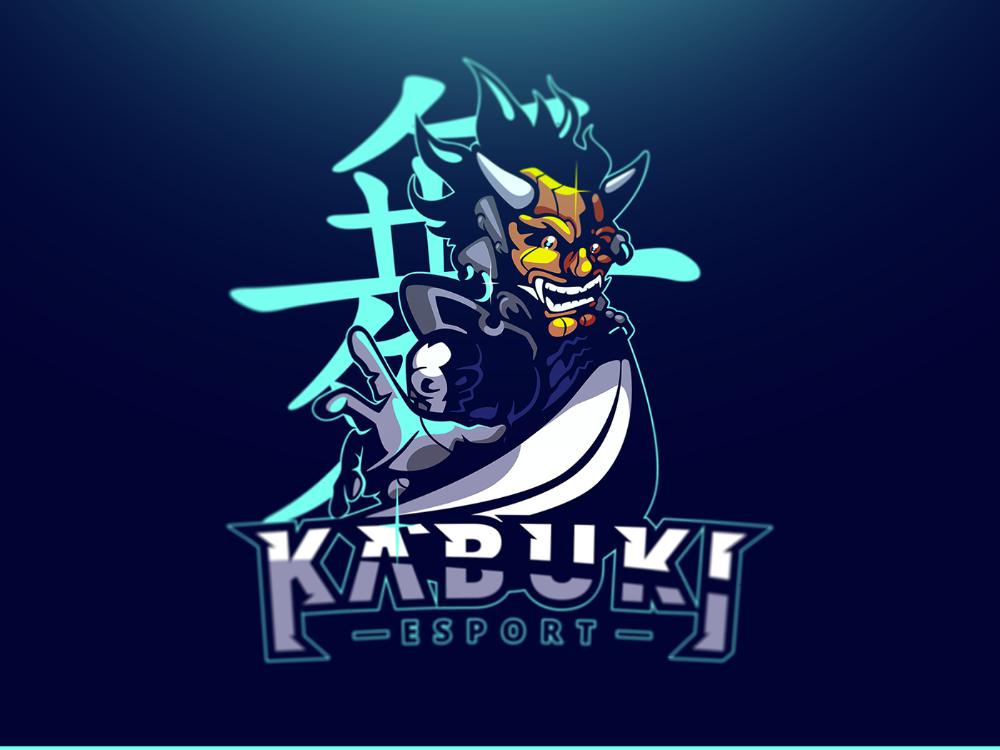 Kabuki Esport on Behance Sports logo design, Esports