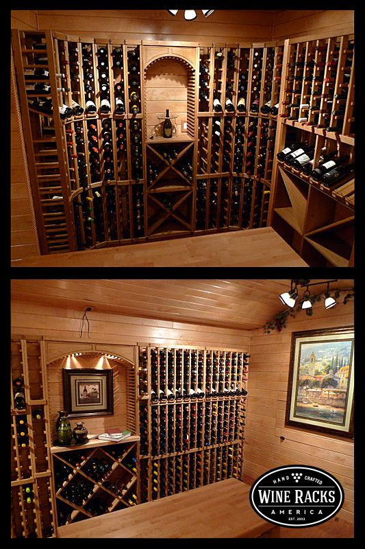 Very Nice Looking Oak Stained Wine Cellar The Display Row