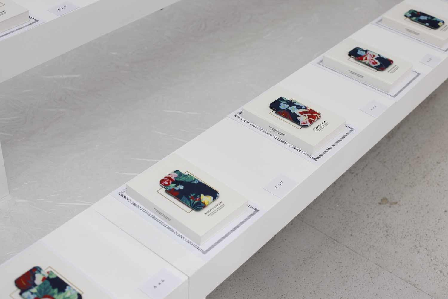 Wooyoungmi SS13 print iPhone cases on front row.