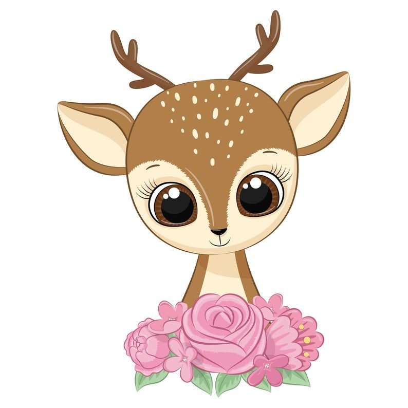 Mother And Baby Deer Clipart Png Eps Jpeg Baby Deer Clip Etsy Baby Deer Baby Clip Art Cute Cartoon Wallpapers