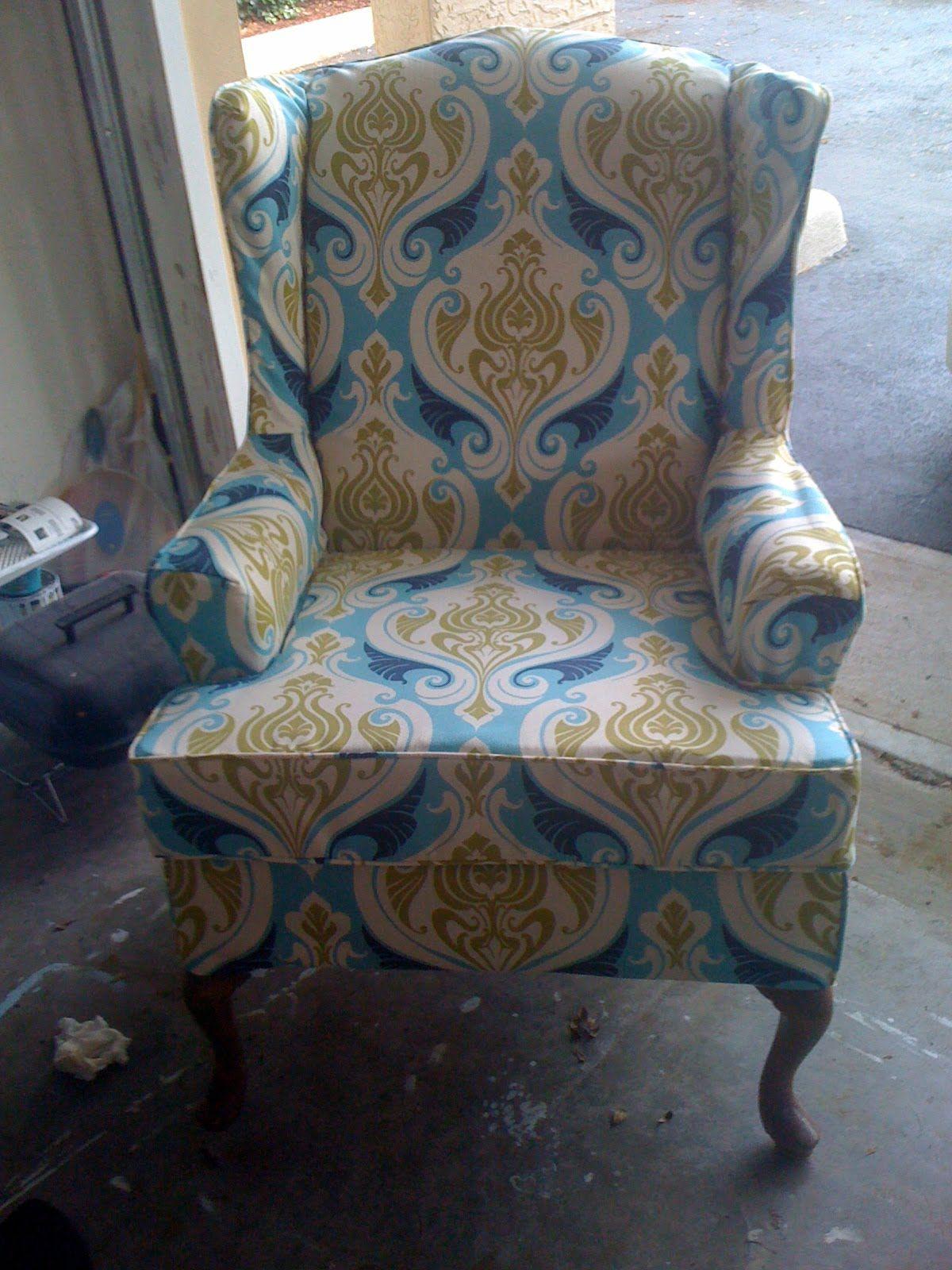 Wingback Chair Slipcover Decor Ideas: Wingback Chair Slipcover   How To Make  Slipcovers For Wingback