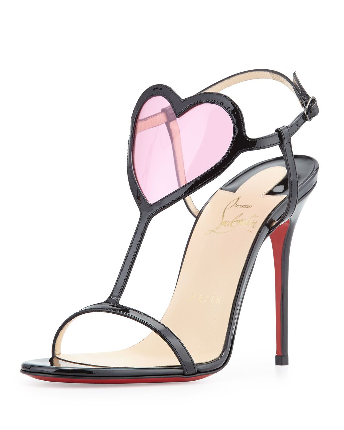 a09b28270f3 Cora Heart Red Sole Sandal Black/Pink | ACCESSORIES .... Shoes, Bags ...