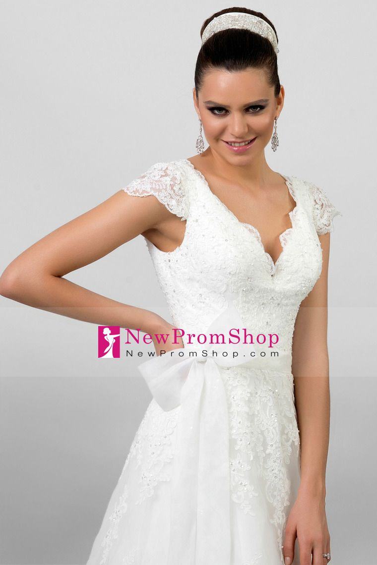 Wedding dresses with beading  Wedding Dresses A Line V Neck Court Train cmcm Tulle With