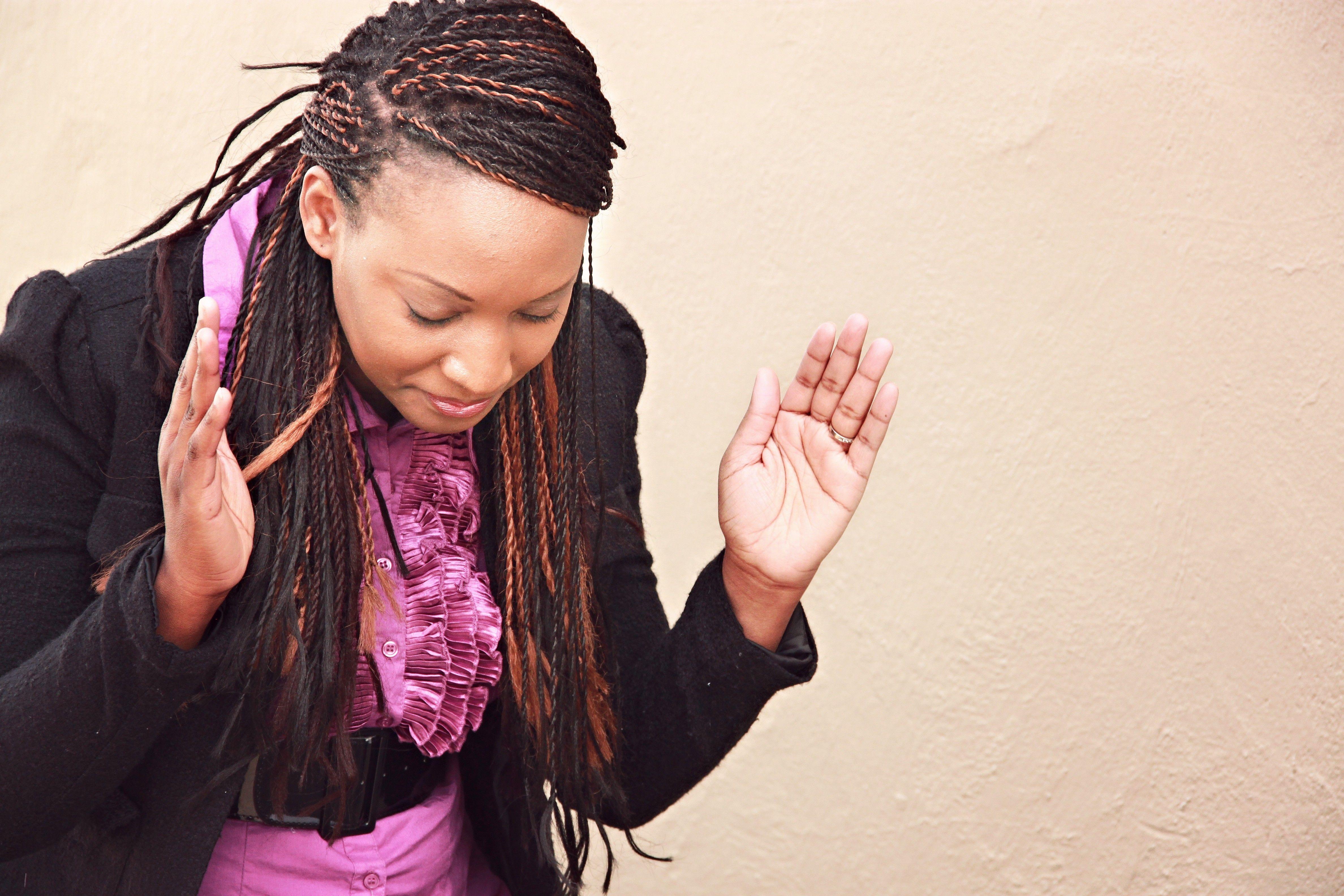 Black woman worshipping