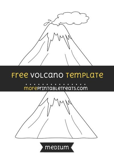 Free volcano template medium shapes and templates printables free volcano template medium templates shapes volcano diy crafts printables maxwellsz
