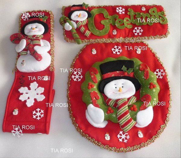 Ideas para Decoracion con Monos de Nieve de Fieltro ...