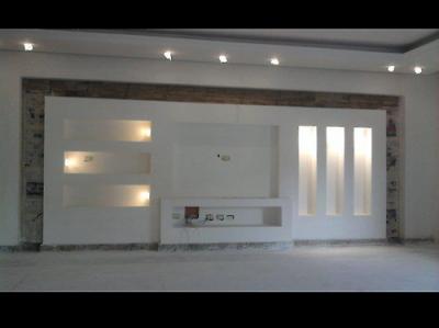 Meuble Tv En Placoplatre Plafond Design Deco Mur Salon Deco Meuble Tele