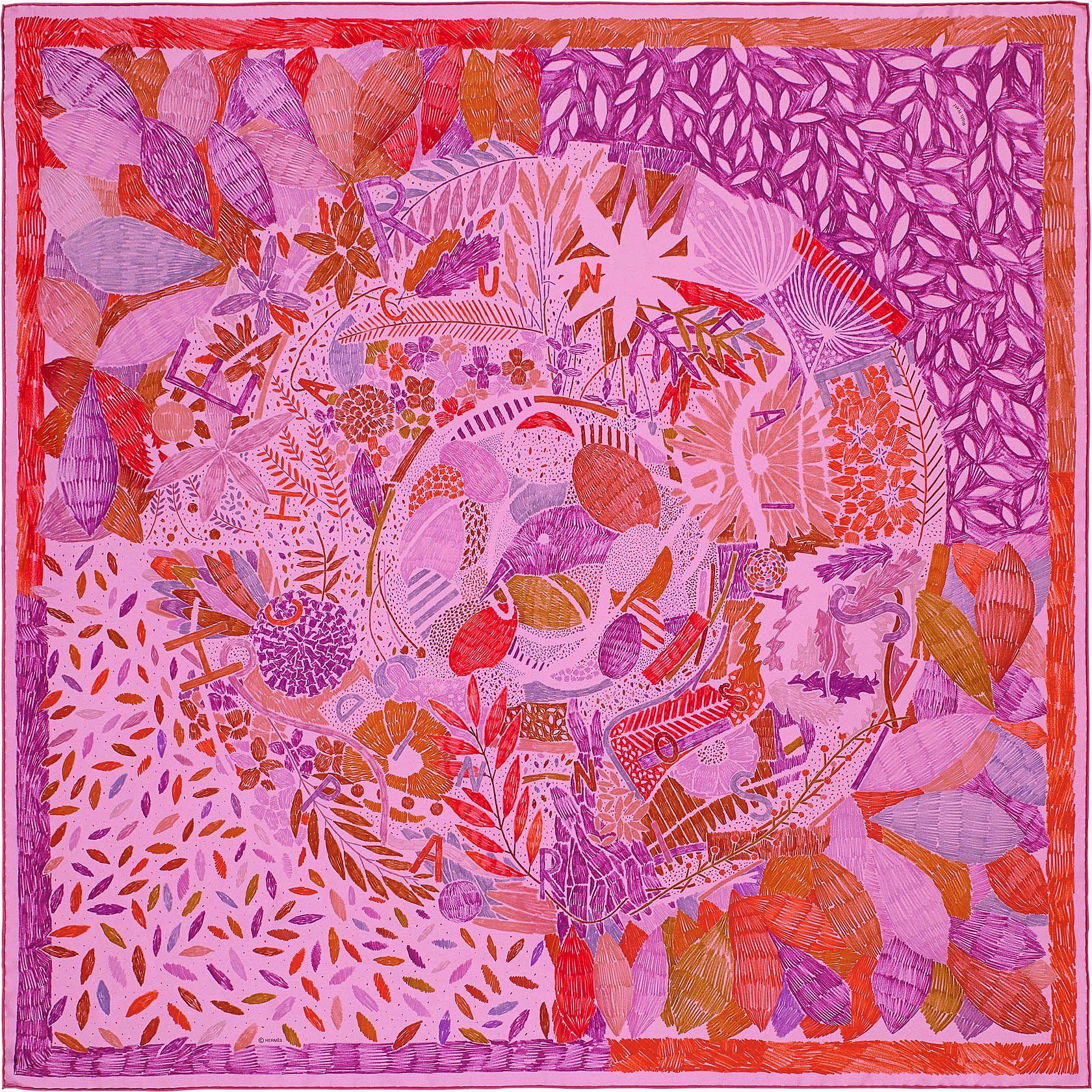Hermès Chacun Fait Son Nid, signé Nigel Peake   Carrés   Pinterest ... ed59ba389f1