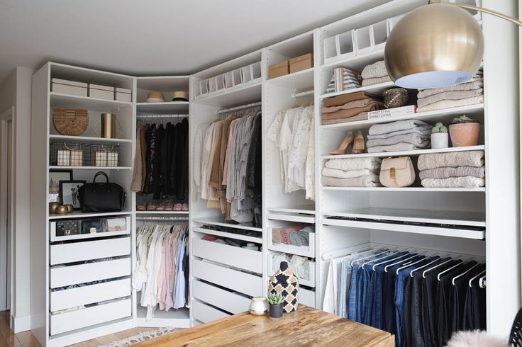 MY CLOSET/OFFICE REVEAL Ikea wardrobe closet, Corner