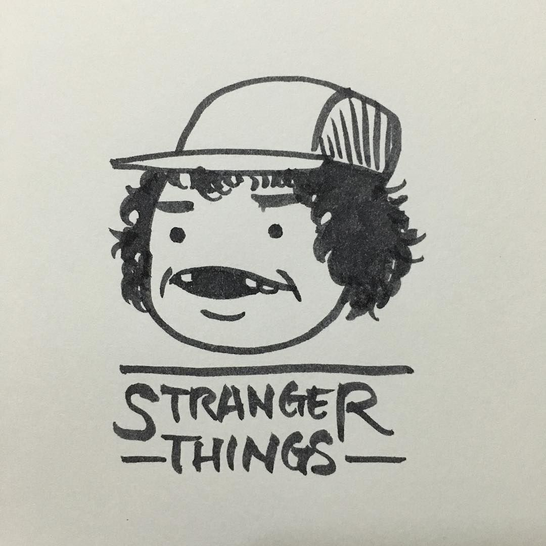 strangerthings illustration netflix on Instagram