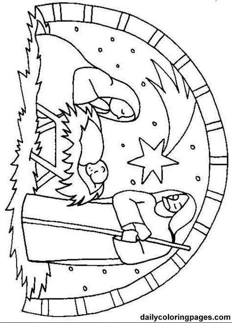 Christmas Nativity Scene Coloring Page, nativity scene bible ...