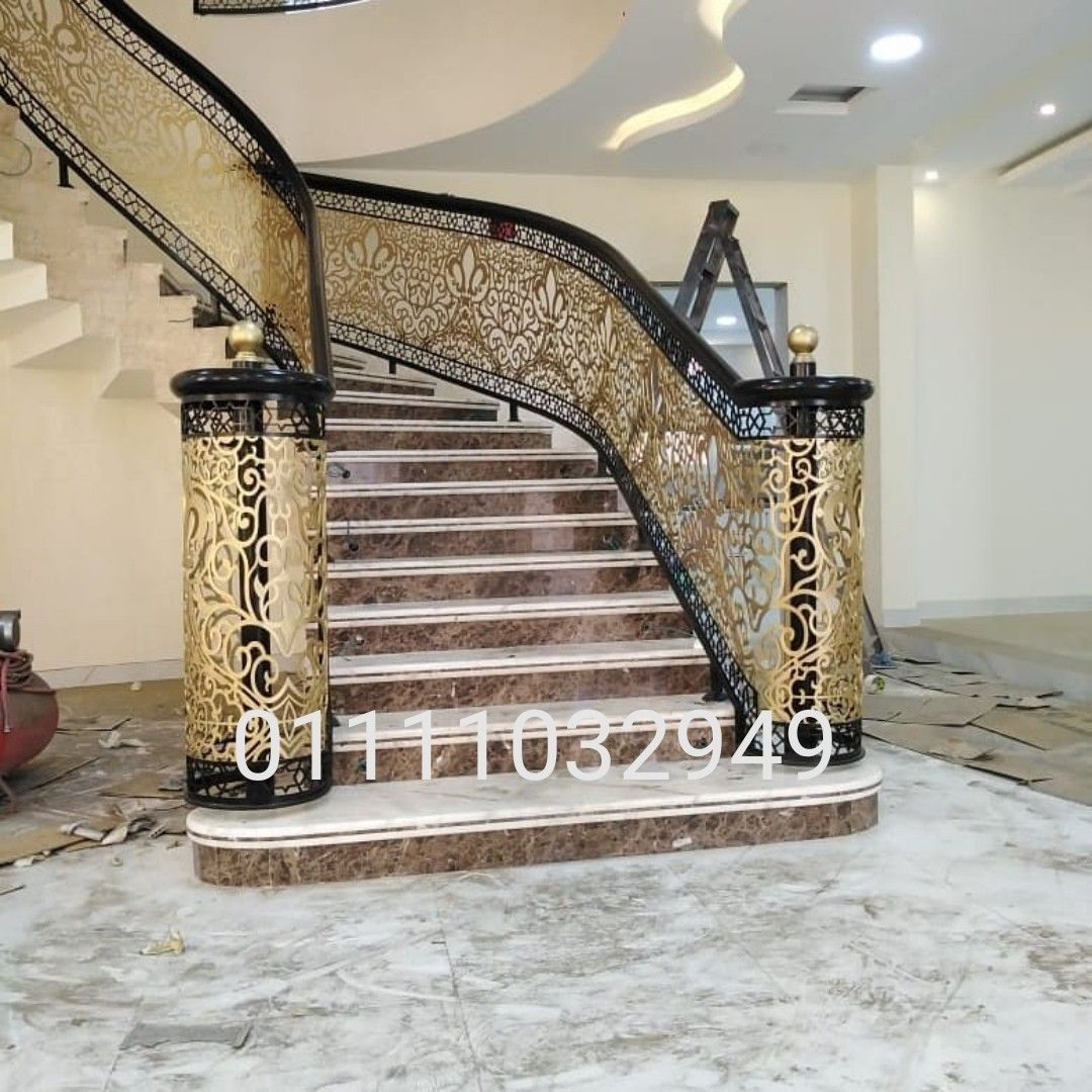 درابزين حديد قص ليزر ٤ملم Home Decor Decor Stairs
