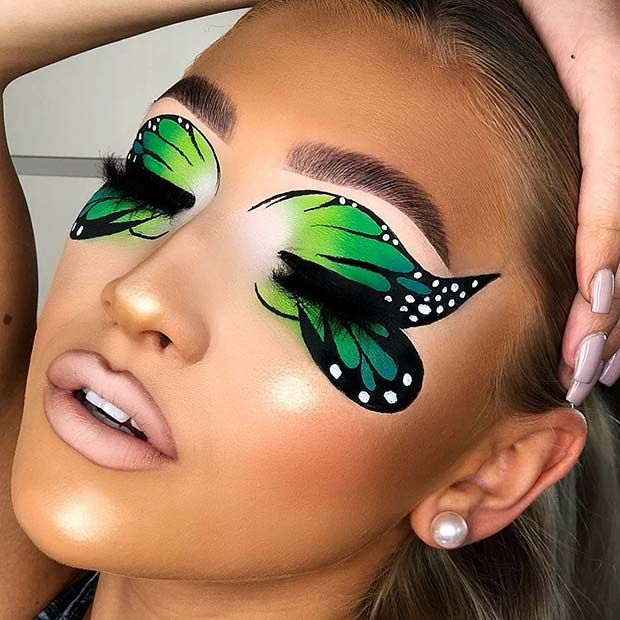 21 Most Beautiful Butterfly Makeup Ideas for Halloween | StayGlam