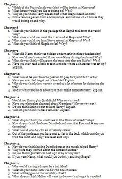 Harry Potter And The Sorcerer Stone Discussion Question Activity By Wise Guy Thi Or That Reading Questions Literary Analysi Essay