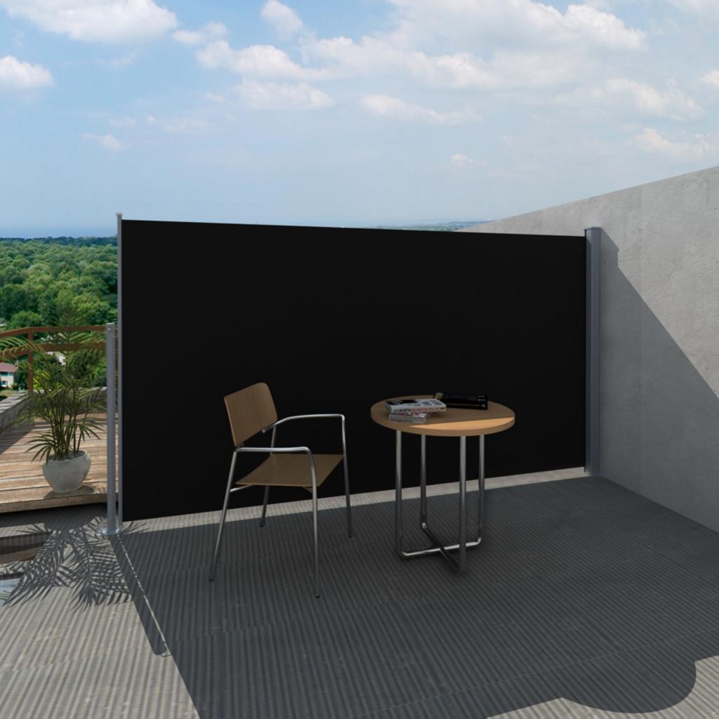 Terrasse Seitenmarkise 160/180 x 300 cm Schwarz