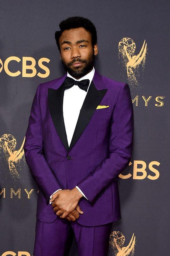 2018 Tailored Made Purple Jacket Men Suit Prom Tuxedo Slim Fit 2 ...