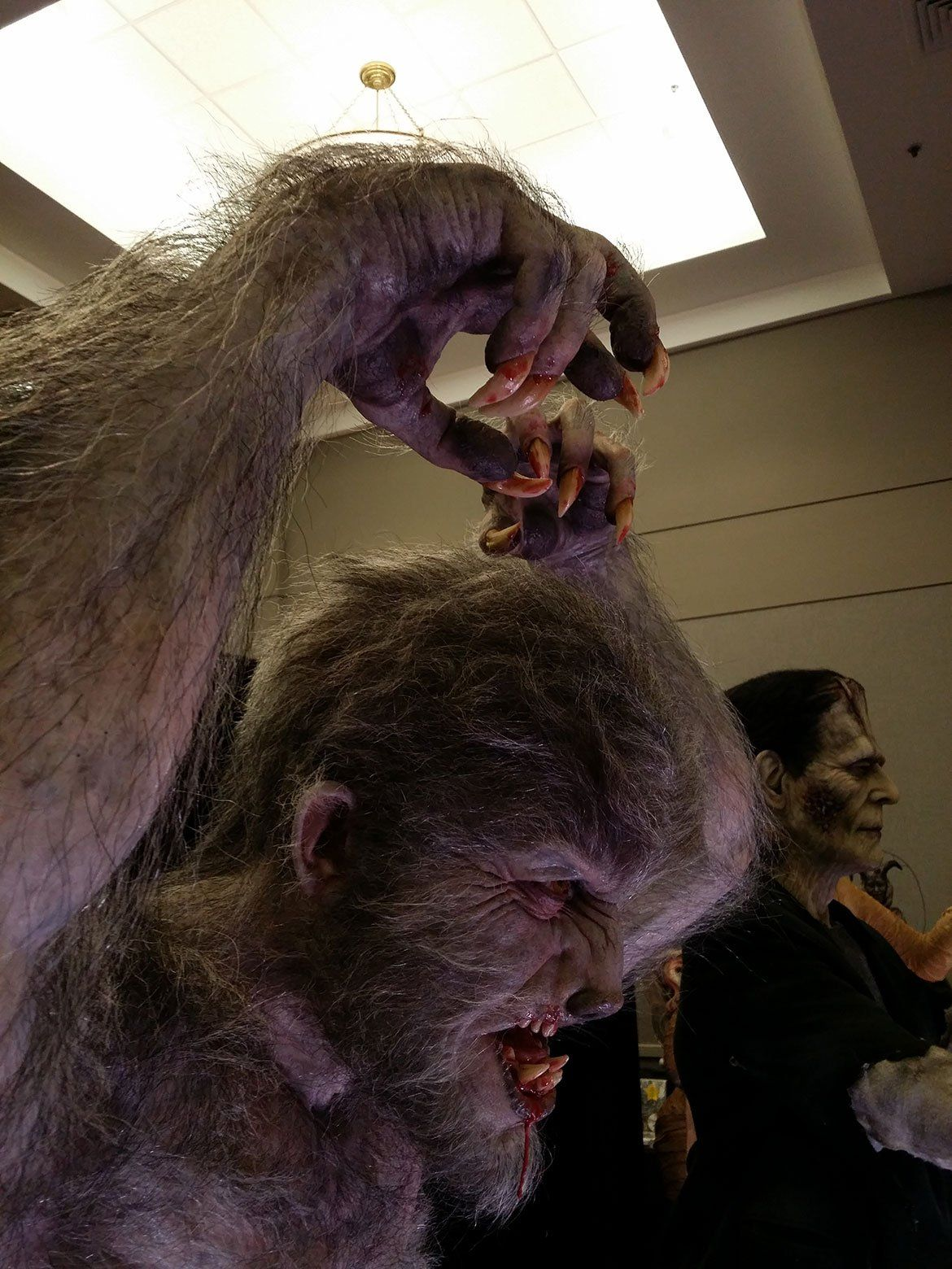 The Wolfman life size statue...