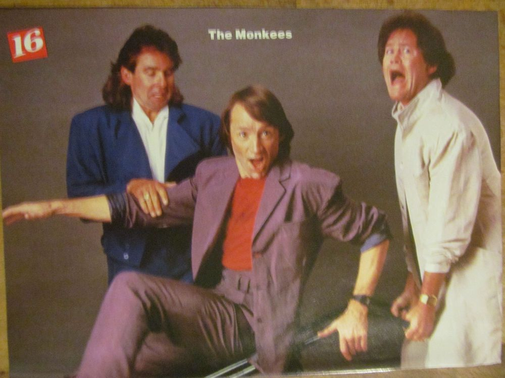 The Monkees, Johnny Depp, Double Full Page Vintage Pinup