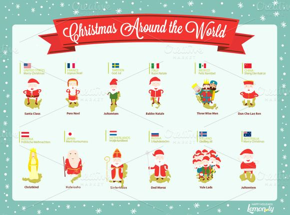 Christmas Around the World ~~ Christmas is a global holiday and ...