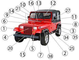 87 95 Wrangler Repair Maintenance Replacement Parts Jeep Wrangler Jeep Wrangler Yj Best Jeep Wrangler