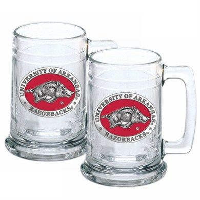 Arkansas Razorbacks Beer Mug Set of Two