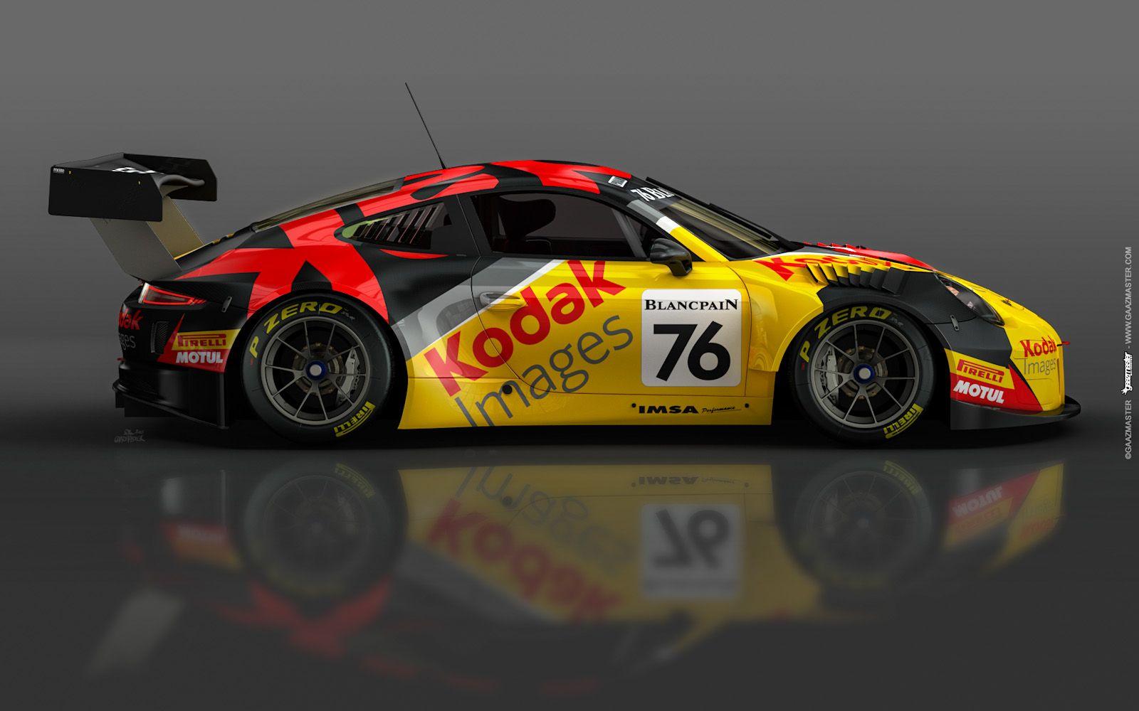 GaazMaster MotorSport - Porsche GT3R – IMSA Performance – Kodak
