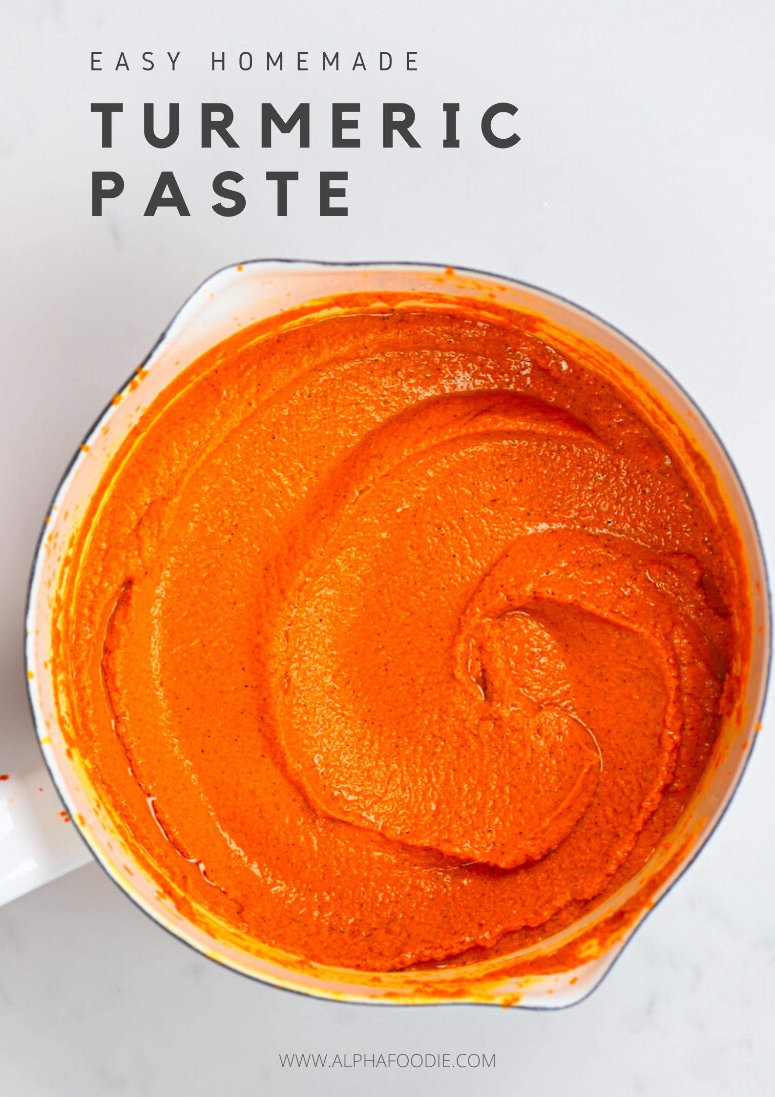Simple Turmeric Paste Golden Paste Recipe Turmeric Paste Turmeric Golden Paste