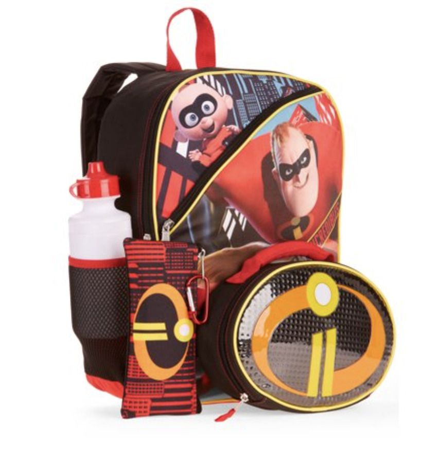 Boys Avengers Infinity War Backpack with Detachable Insulated Lunch Bag 2Pc