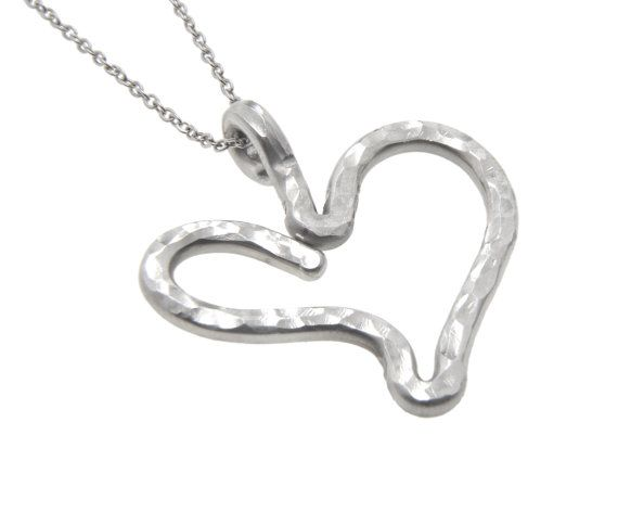 www.sidkassidy.com  Heart Necklace Sterling Silver by SidKassidy