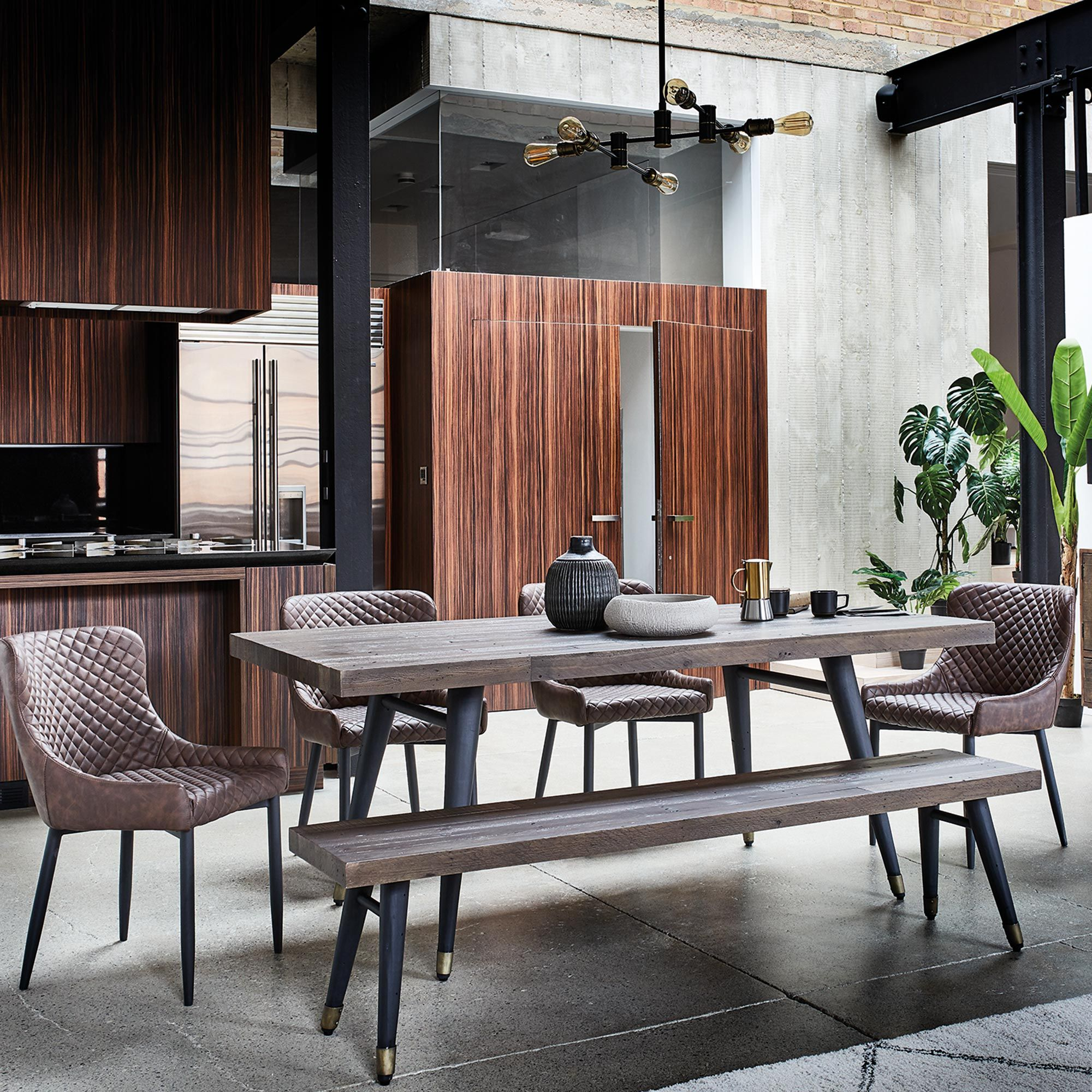Modi Reclaimed Wood Extending Dining Table Tables Dining Room
