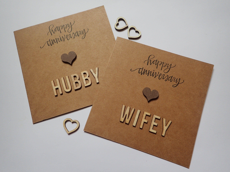 Handmade Anniversary Card Happy Anniversary Hubby Happy