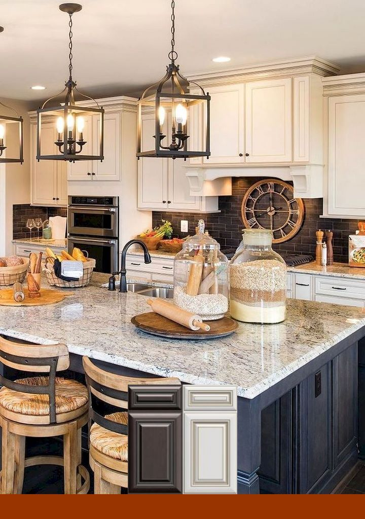 Best Farmhouse Kitchen With Honey Oak Cabinets 400 x 300