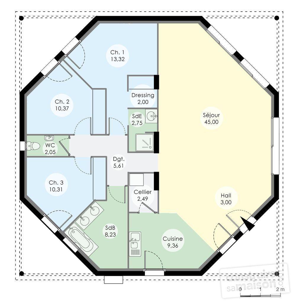 16 Maison Kokoon Plan House Plans Home Design Plans Round House Plans