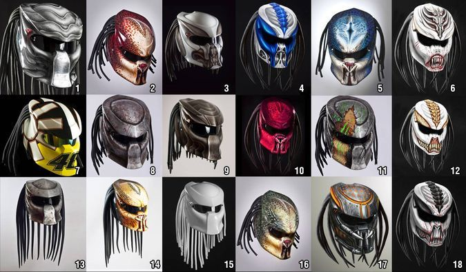 http://coolpile.com/gear-magazine/predator-motorcycle-helmet/  Cool Motorcycle Helmet Variations, Models, Paint Jobs Available