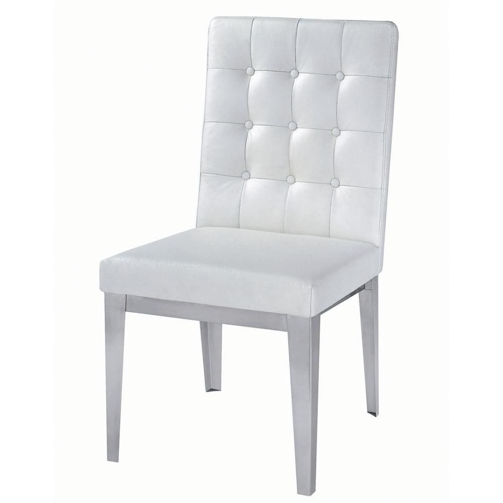 Dining chairs modern white outdoor dining chairs design lee dining - Modern White Leather Dining Chairs Home Furniture Design