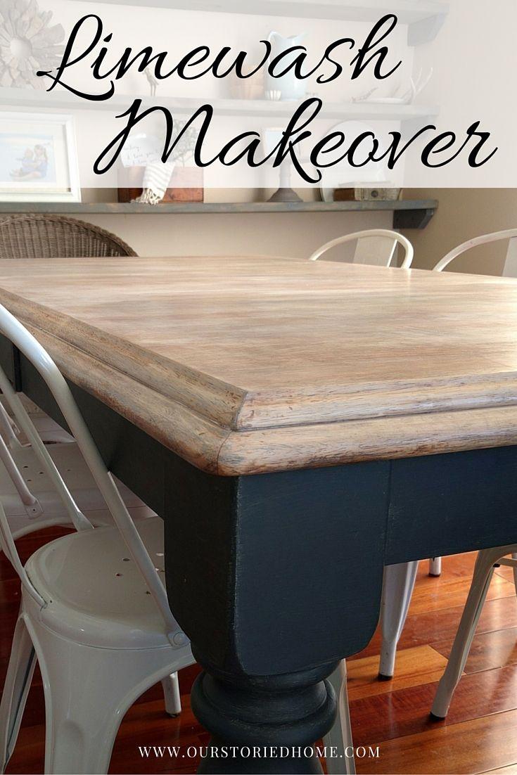 Limewashed Table Makeover Just Random Stuff Pinterest