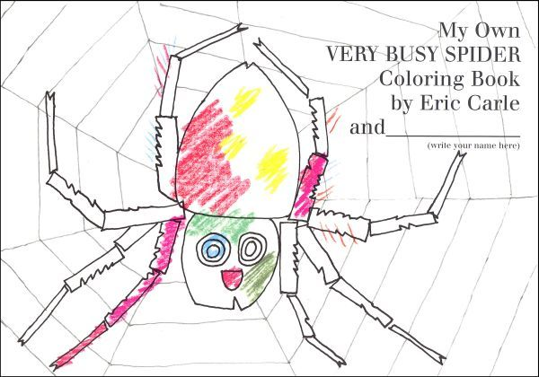 My Own Very Busy Spider Coloring Book Main Photo Cover Wenn