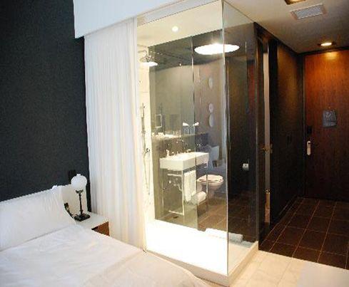 Glass Shower Hotel Room